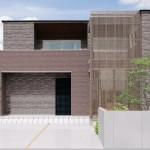 新潟市西区浦山の土地の建物プラン例の外観パース