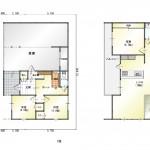 新潟市中央区網川原の新築住宅の間取図