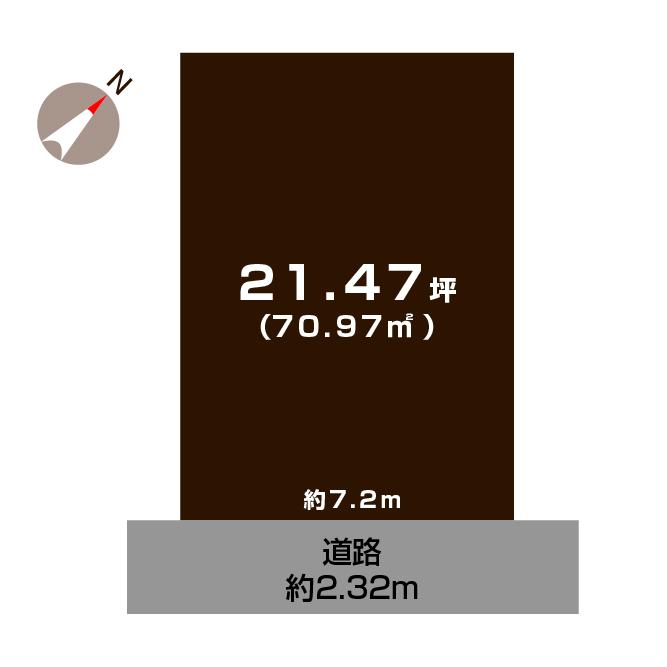 新潟市中央区四ツ屋町の土地の敷地図