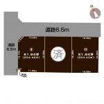 上越市頸城区上吉の土地の敷地図(敷地図)