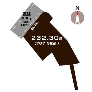 新発田市大伝の【土地】の敷地図