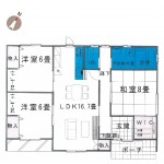 胎内市星の宮町の新築住宅の間取図