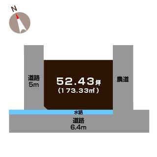 燕市桜町の土地の敷地図