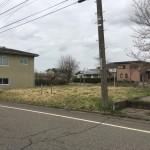 長岡市青葉台の土地の写真(前面道路)