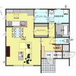 三条市東裏館の新築住宅の間取図