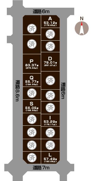 五泉市石曽根の土地の敷地図