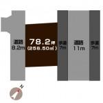 長岡市青葉台の土地の敷地図(敷地図)