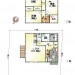 新潟市西区小針南台の新築住宅の間取図