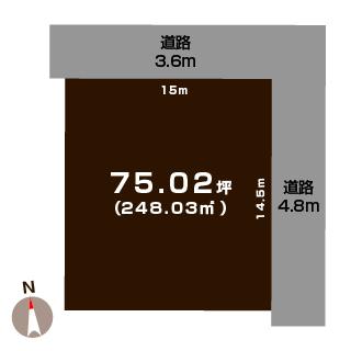 新発田市緑町の【土地】の間取図