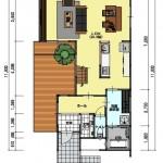 新潟市中央区鳥屋野の土地の建物プラン例(1階間取図)