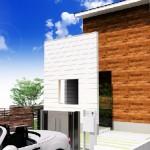 新潟市中央区鳥屋野の土地の建物プラン例(外観)