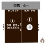 新潟市秋葉区車場の土地・分譲地の敷地図
