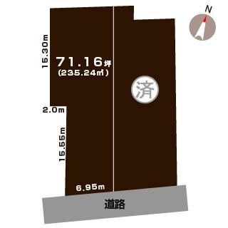 新潟市中央区鳥屋野の土地の敷地図