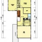 新潟市中央区鳥屋野の土地の建物プラン例(2階間取図)