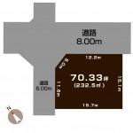長岡市東栄の不動産【土地】の敷地図(敷地図)