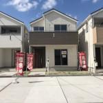 新潟市北区嘉山の新築住宅の外観写真