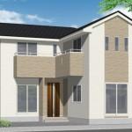 新潟市東区豊の新築住宅の外観完成予定パース