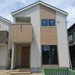 新潟市北区嘉山の新築住宅の外観の写真