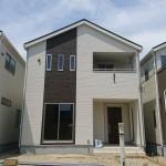 新潟市北区嘉山の新築住宅の外観画像