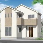 新潟市西区山田の新築住宅の外観完成予定パース