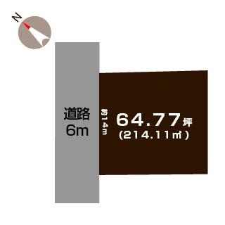 新潟市北区柳原の敷地図