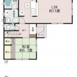 新潟市東区豊の新築住宅の間取図