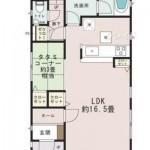 新潟市北区嘉山の新築住宅の間取図