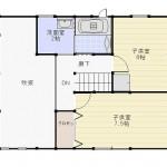 新潟市西区木場の未入居物件の間取図