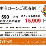 新潟市西区寺尾上の中古マンションの住宅ローン返済例
