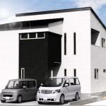 新潟市東区材木町の建物プラン例の外観パース