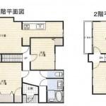 新発田市豊町の中古住宅の間取り図