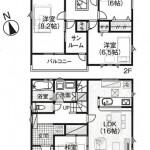 新潟市秋葉区小須戸の新築住宅の間取図