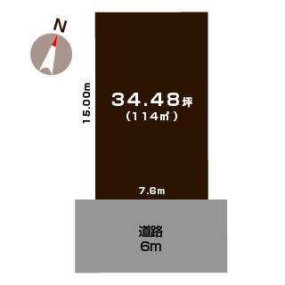 新潟市中央区網川原の土地の敷地図