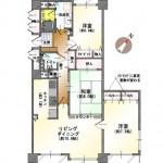 新潟市中央区南笹口の中古マンションの間取図