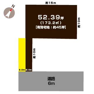 新潟市東区新石山の土地の敷地図