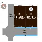三条市直江町の土地の敷地図