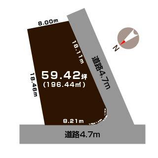 燕市吉田西太田の土地の敷地図
