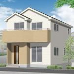 新潟市西区寺尾東の新築住宅の外観完成予定パース