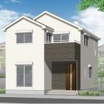 新潟市東区浜町の新築住宅の外観完成予定パース