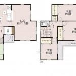 新潟市東区下場本町の新築住宅の間取図
