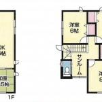 新潟市東区上木戸の新築住宅の間取図