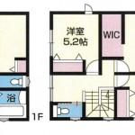 新潟市東区東明の新築住宅の間取図