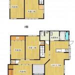 新潟市東区中山の中古住宅の間取図