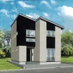 新潟市東区上木戸の新築住宅の外観完成予定パース