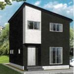 新潟市東区東中野山の新築住宅の外観完成予定パース