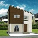 新潟市東区東明の新築住宅の外観完成予定パース
