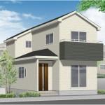 新潟市東区下木戸の新築住宅の外観完成予定パース