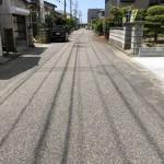 新発田市緑町の中古住宅の前面道路
