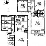 新潟市江南区城山の新築住宅の間取図
