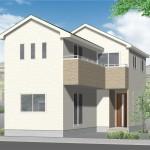 新潟市江南区所島の新築住宅の外観完成予定パース